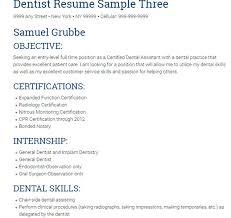 Resume Examples Dental Assistant by 10 Dentist Resume Templates Free Pdf Samples Examples