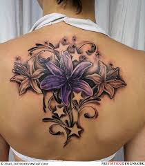 flowers and stars tattoo designs collection 79