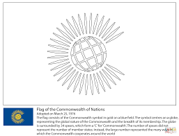 commonwealth flag coloring page free printable coloring pages