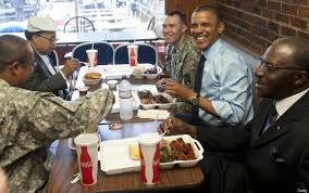 obama u0027s kenny u0027s bbq smokehouse visit focuses on ribs haircuts and