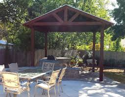 Outdoor Fireplace Accessories - free standing gazebo patio traditional with hanging plants