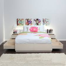 wonderful white beige brown wood glass modern design small bedroom