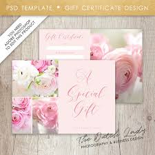 gift certificate template with photos design 2 instant