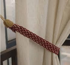 5 pairs cord curtain tiebacks holdback braided living room