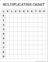 free math printable blank multiplication chart multiplication
