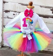 1st birthday tutu unicorn tutu bright rainbow tutu 1st birthday tutu set
