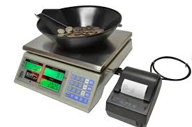 coin counter portable battery operated scales weigh coins tokens tickets