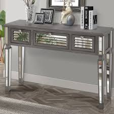 Mirrored Glass Bedroom Furniture Bedroom Furniture Console Table Modern Console Table With