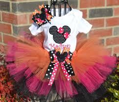 pink orange black personalized minnie mouse tutu set