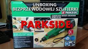 parkside modelling and engraving set rozpakowanie unboxing szlifierki akumulatorowej parkside test