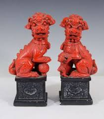 choo foo dogs pair of ivory foo dog bottles on stands 19th century the