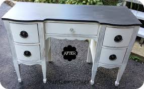 Painting Black Furniture White by Sunflowerhugs Black U0026 White Desk