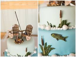 fish themed wedding cake two less fish in the sea floyd va