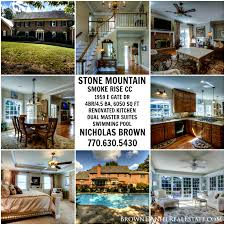 Dual Master Suites Smoke Rise Country Club Ga Home For Sale