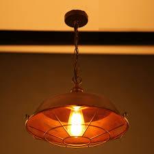 Lampe F Esszimmer Retro Pendelleuchte Einfache Vintage Braun Metall Abdeckung Lampe