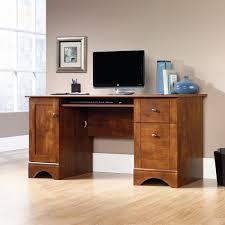 Sauder Computer Desk Armoire by Sauder Carson Forge Desk Washington Cherry Hayneedle