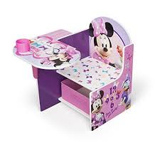 desk chair with storage bin minnie mouse chair desk with bonus storage bin walmart com