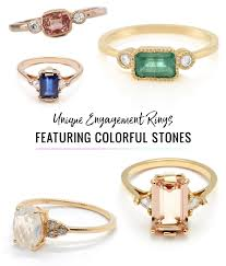 rings with stones images Ditch the diamond alternative engagement rings featuring a jpg