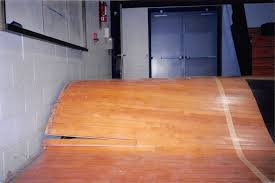 water damage on floor flooded basketball court floor
