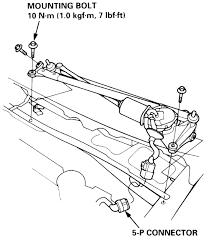2003 honda accord wiper motor repair guides windshield washers and wipers windshield wiper