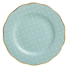 royal albert polka formal vintage salad plate