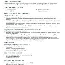sample resume objectives for any job resume examples first job