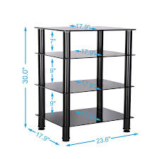 component rack for home theater amazon com fitueyes 4 tier media component stand audio cabinet