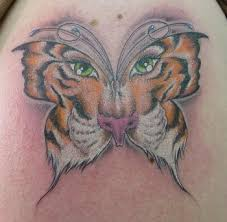 terrible cat tattoos big cat edition tiger butterfly