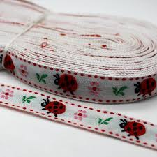 ladybug ribbon 3 yards embroidered lovely ladybug webbing width 1 6 cm bags