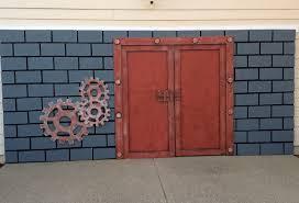 building a garage door facade for halloween youtube