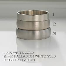 14k palladium white gold color comparison of 950 palladium 14k white gold and 14k