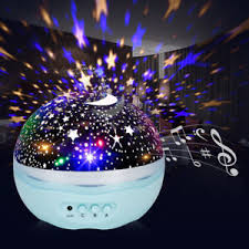 baby night light projector with music romantic moon star sky usb led projector music night light baby kids