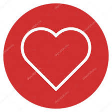 heart outline icon modern minimal flat design style love symbol