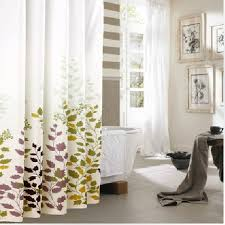 72 X 78 Fabric Shower Curtain Eforgift 72 X 78 Inch Printed Leaves Waterproof Non Mildew