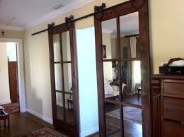 Espresso Closet Doors Espresso Teak Wood Two Panel Sliding Closet Door With Glass Screen