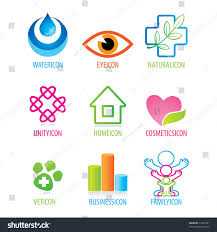set generic icons on different themes stock vector 77246791