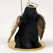 cocker spaniel figurine statue ornament black
