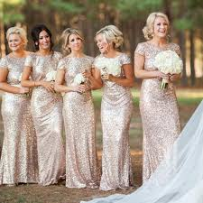 bridesmaid dresses 2018 charming most popular mermaid sleevesequin