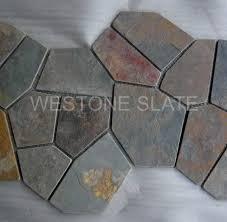 multicolor slate random sized mesh mounted westone slate
