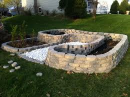 brick garden bed edging small back garden lawn border hedge brick