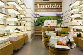 lavido natural cosmetics store interior design galia design