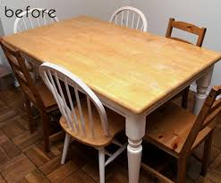 kitchen table refinishing ideas before after brad s kitchen tables design sponge