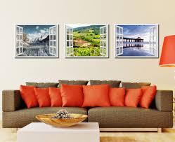 wine vineyards tuscany italy 3d window wall art home decor frames
