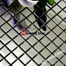 metallic tiles backsplash 2017 polished silver metal mosaic tile smmt018 square stainless