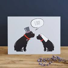 bulldog wedding card 2 75 mischievous mutts greeting