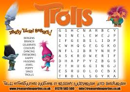 free trolls movie wordsearch that you can print at home