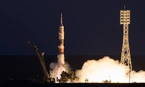 soyuz ms 05 crew launches bound for 4 5 month iss increment