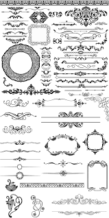 ornamental elements and frames vector free vectorpicfree