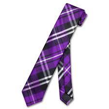 tartan vs plaid vesuvio napoli narrow necktie skinny purple black white plaid mens tie
