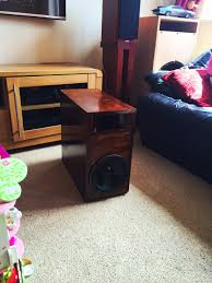 home theater subwoofer diy homemade home theater subwoofer enclosure birch ply youtube